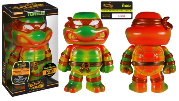 Barnes & Noble Exclusive Pizza Power Michelangelo Hikari Sofubi Figure