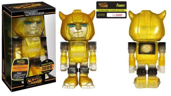 LE Bumblebee Clear Glitter Hikari Sofubi Figure