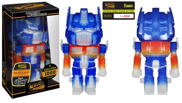Limited Edition Optimus Prime Clear Glitter