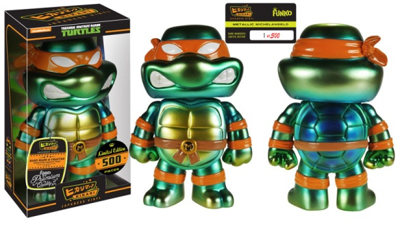 Limited Edition Nickelodeon Exclusive Metallic Michelangelo Exclusive Hikari Sofubi Figure