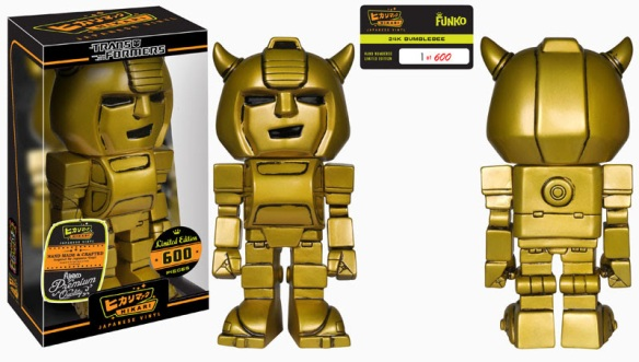 Books-A-Million Exclusive 24k Bumblebee Hikari Sofubi Figure