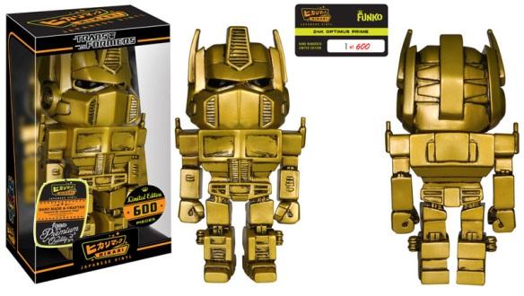 Books-A-Million Exclusive 24k Optimus Prime Hikari Sofubi Figure