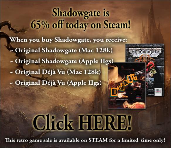 Shadowgate Sale