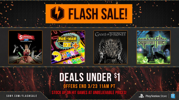 PSN Flash Sale Madness