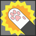 CD paw slap icon