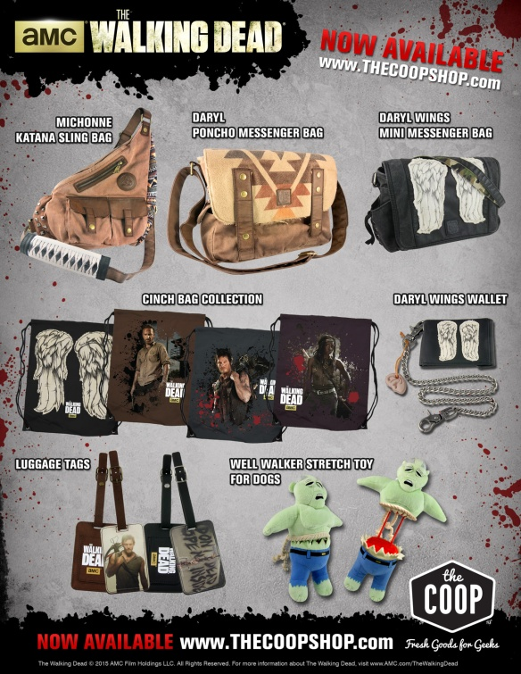 062615 THE WALKING DEAD NEW PRODUCTS FROM THE COOP