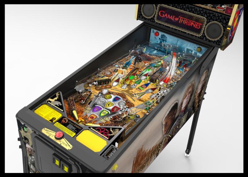 silver pinball machine