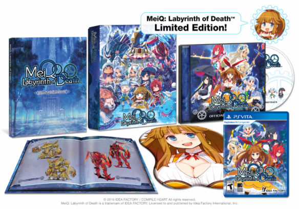 Yep, that's the Limited Edition package for those of you who want a ton of omake with your tough gal-centric dungeon crawler.