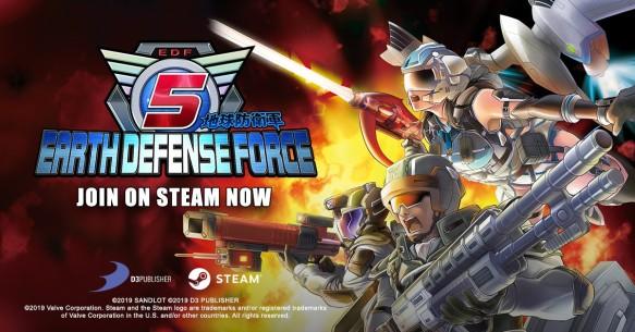 EDF 5 Steam Launch Key Art