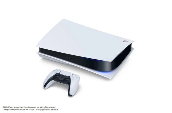 PS5 on side